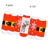 Christmas Microfiber Fuzzy Mother-child Sock Bed Sleeping Floor Socks